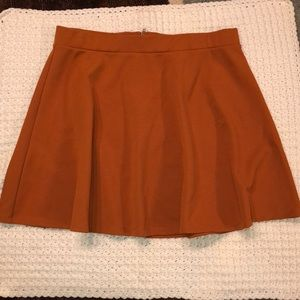 Forever 21 plus burnt orange skater skirt